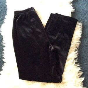 Vintage Pants - Vintage high rise black velvet lounge sweat pants